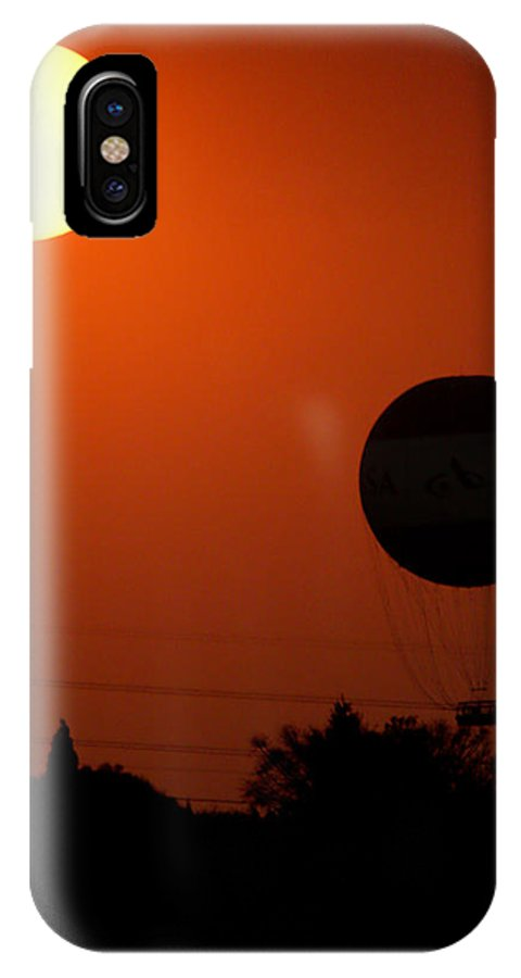 Balloon IPhone X Case featuring the photograph Black And White by Paul Job