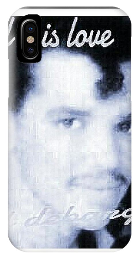 Famous Singer El Debarge IPhone X / XS Case featuring the photograph Black And White Photo Of El Debarge by Tracie Howard