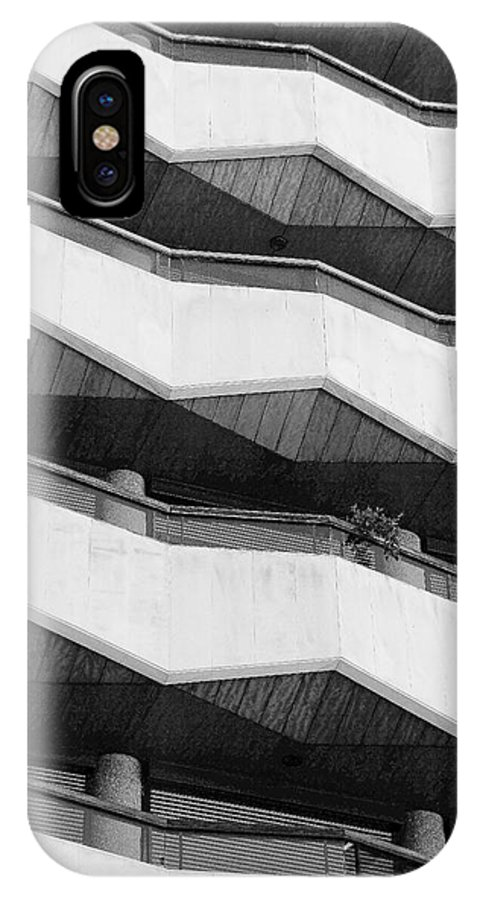Building IPhone X Case featuring the photograph Black And White Triangles by Fred Alexandre