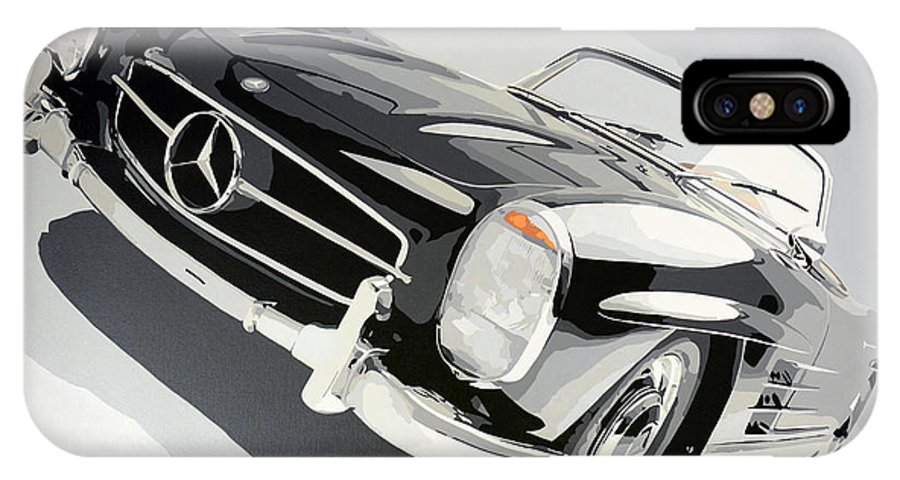 IPhone X Case featuring the painting Mercedes 300 Sl by Marek Ptak
