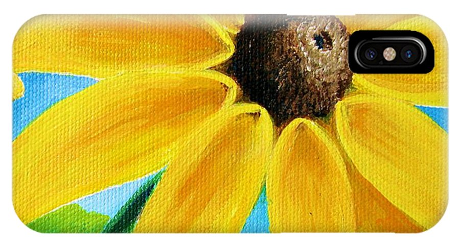 Black Eyed Susan IPhone X Case featuring the painting Black Eyed Susan by Sharon Marcella Marston