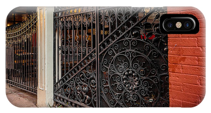 Architecture IPhone X Case featuring the photograph Black Iron And Red Brick by Melinda Ledsome