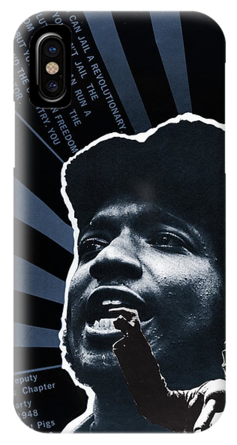 1969 IPhone X Case featuring the photograph Black Panther Poster, 1969 by Granger