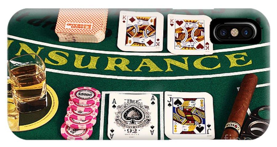 Gambling IPhone X Case featuring the photograph Blackjack by John Rizzuto