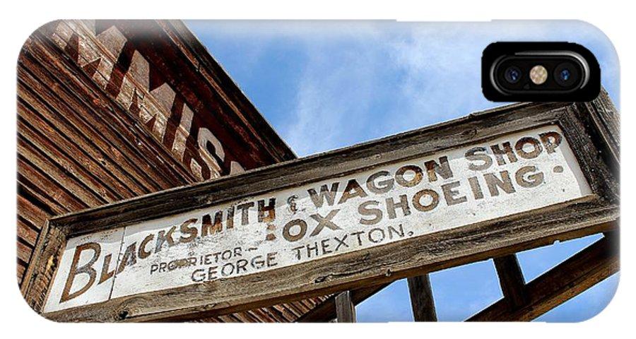 Blacksmith Shop IPhone X Case featuring the photograph Blacksmith Shop by Mark Eisenbeil