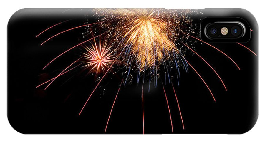 Fireworks IPhone X Case featuring the photograph Blast by Devinder Sangha