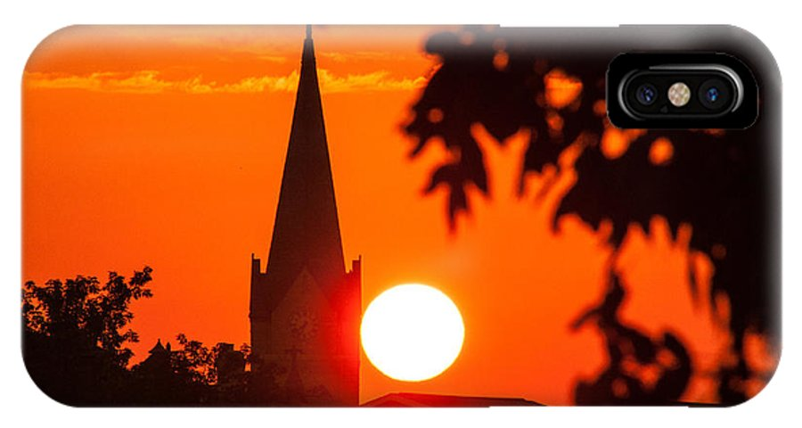 Steeple IPhone X Case featuring the photograph Blaze Of Glory by Patti Raine