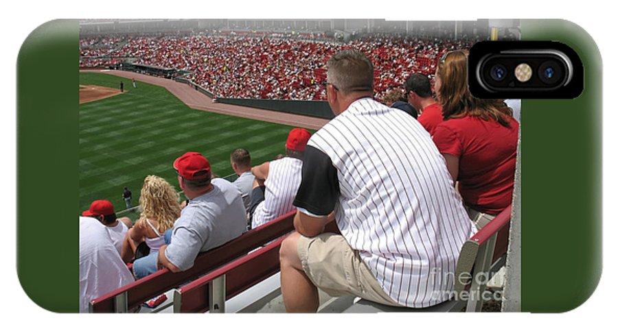 Baseball IPhone X Case featuring the photograph Bleacher Seats by Ann Horn