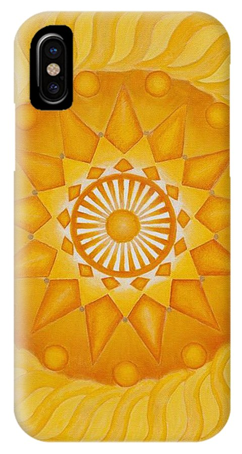 Mandala IPhone X Case featuring the painting Blessed Sun by Mayki Wiberg