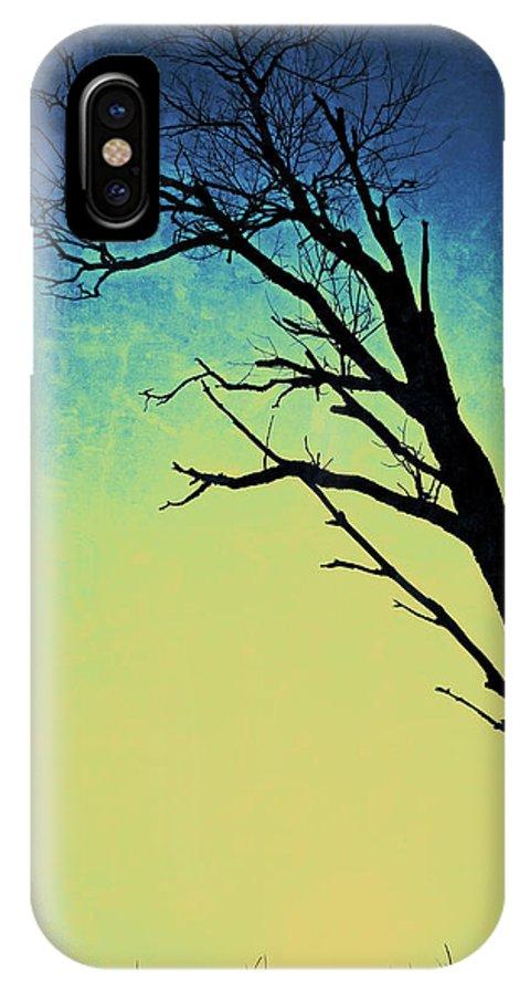 Nature IPhone X Case featuring the photograph Bleu Et Jaune by Natasha Marco