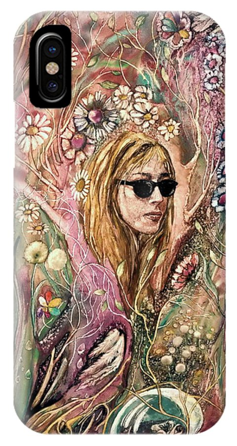 Fantasy IPhone X Case featuring the painting Blind Beauty by Mikhail Savchenko