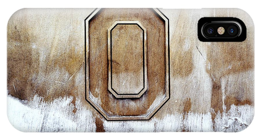 Ohio State University IPhone X Case featuring the photograph Block O by Rachel Barrett
