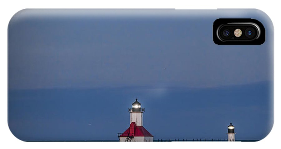 Blood Moon IPhone X Case featuring the photograph Blood Moon Over St Joe 3 by John Crothers
