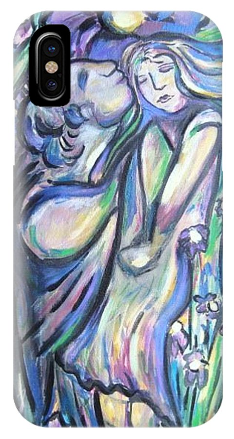 Female IPhone X Case featuring the painting Bloomed by Dawn Fisher