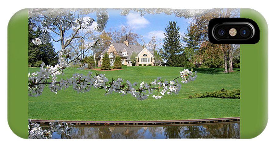 Spring IPhone Case featuring the photograph Blossom-framed House by Ann Horn
