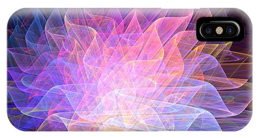 Apophysis IPhone X Case featuring the digital art Blossoms by Kim Sy Ok