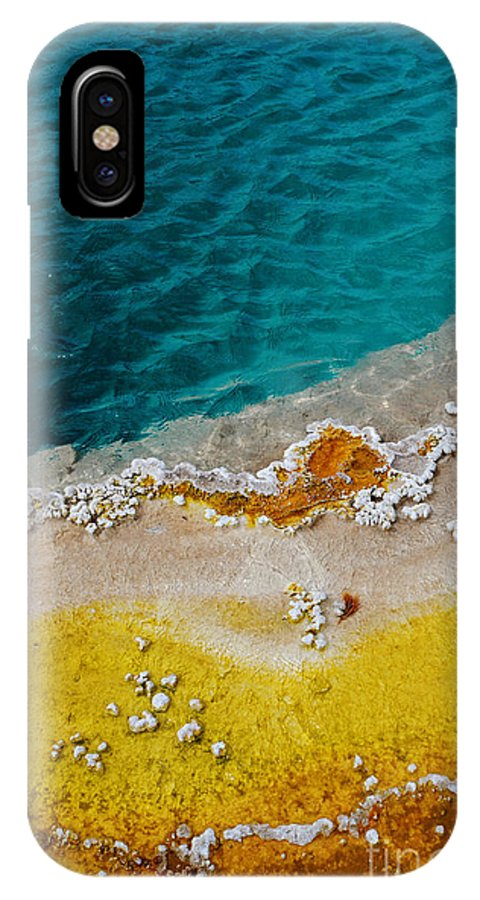 West Thumb Geyser Basin IPhone X Case featuring the photograph Blue And Yellow by Rachel Barrett