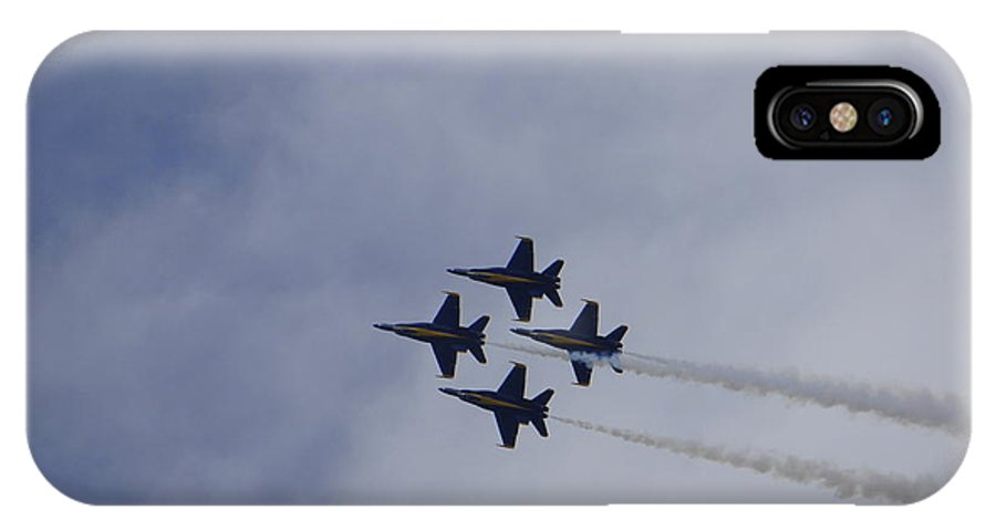 Blue Angels IPhone X Case featuring the photograph Blue Angels 3 by Laurie Perry