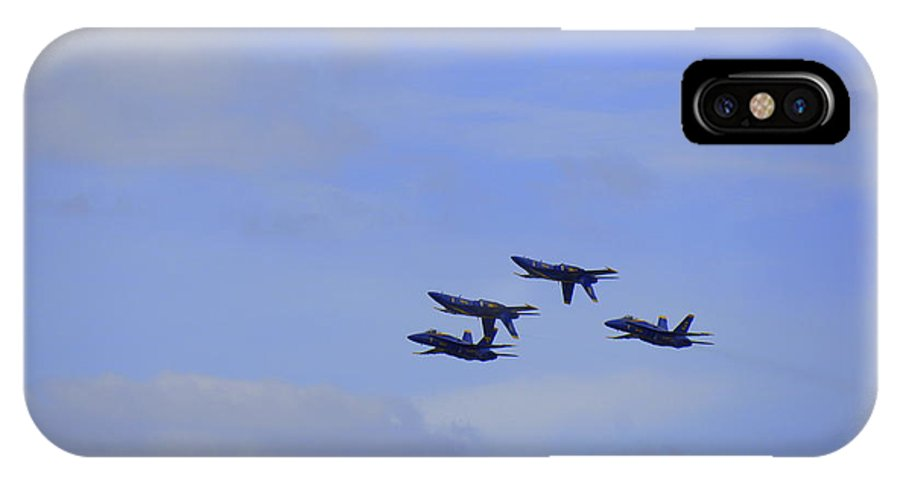 Blue Angels IPhone X Case featuring the photograph Blue Angels 5 by Laurie Perry