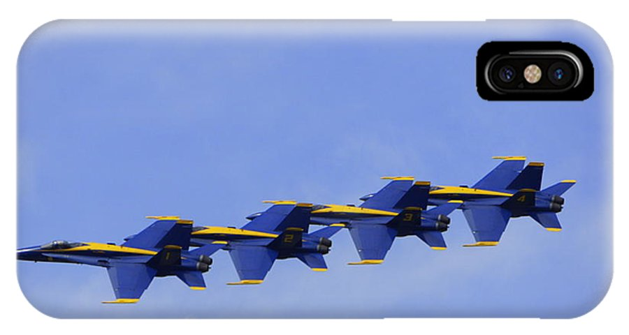 Blue Angels IPhone X Case featuring the photograph Blue Angels 7 by Laurie Perry