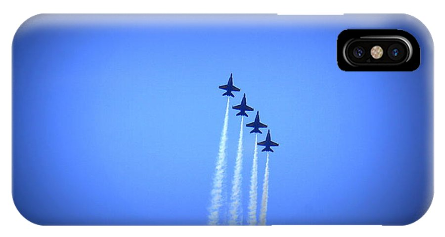 Blue Angels IPhone X Case featuring the photograph Blue Angels 8 by Laurie Perry