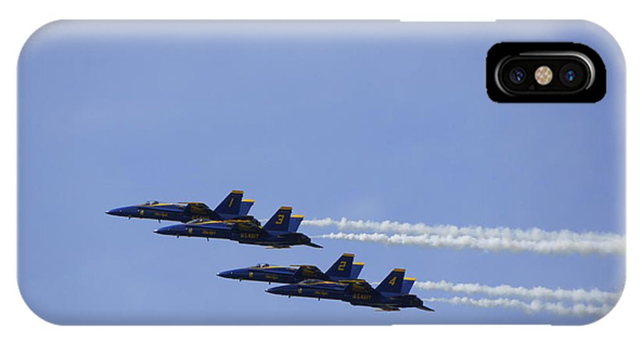 Blue Angels IPhone X Case featuring the photograph Blue Angels 9 by Laurie Perry