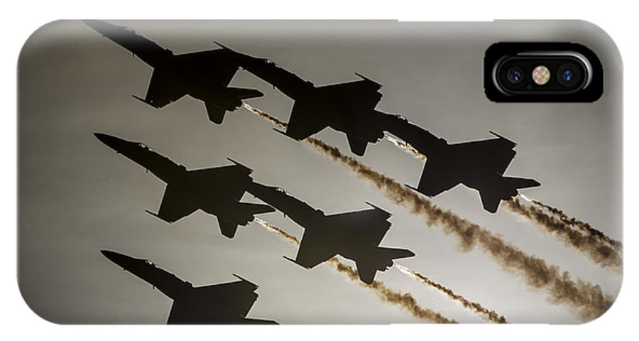 Blue Angels IPhone X Case featuring the photograph Blue Angels by Paul Fearn