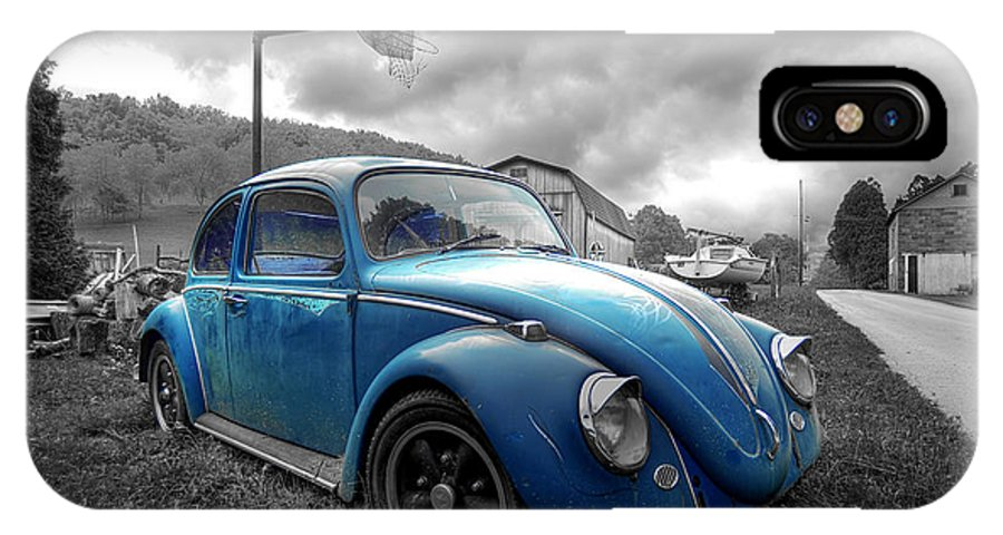 Blue IPhone X Case featuring the photograph Blue Bug by Brian Fisher