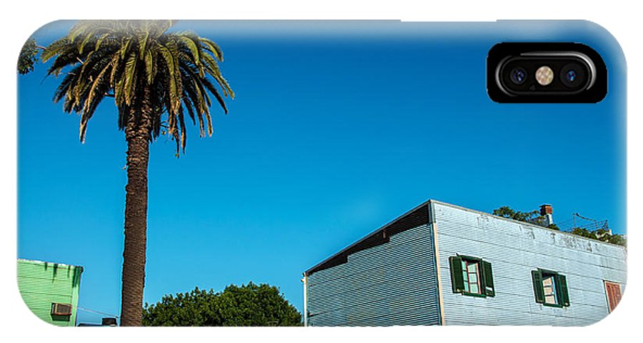 Boca IPhone X Case featuring the photograph Blue Building In Historic Neighborhood by Jess Kraft