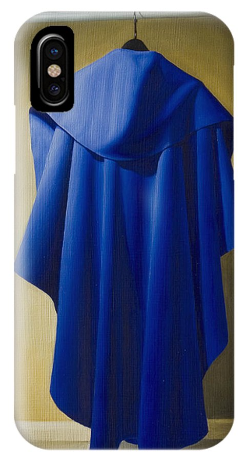 Realism IPhone Case featuring the painting Blue Cape by Gary Hernandez