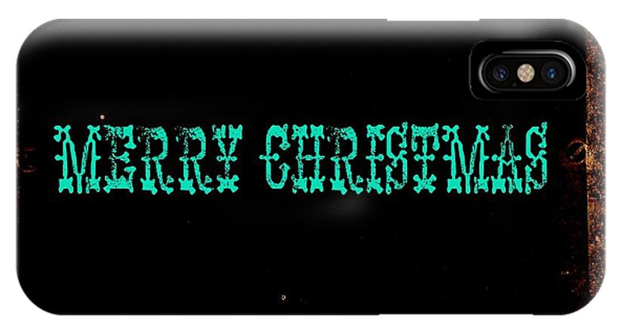 Christmas IPhone X Case featuring the photograph Blue Christmas by Chris Berry