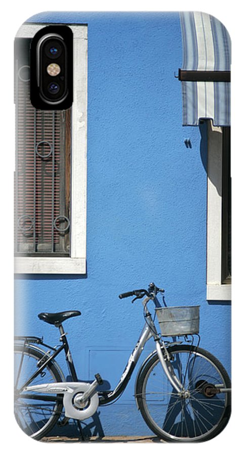 Burano IPhone X Case featuring the photograph Blue by Christopher Rees