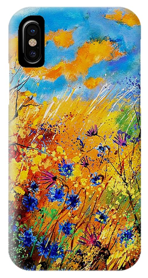 Poppies IPhone Case featuring the painting Blue Cornflowers 450408 by Pol Ledent