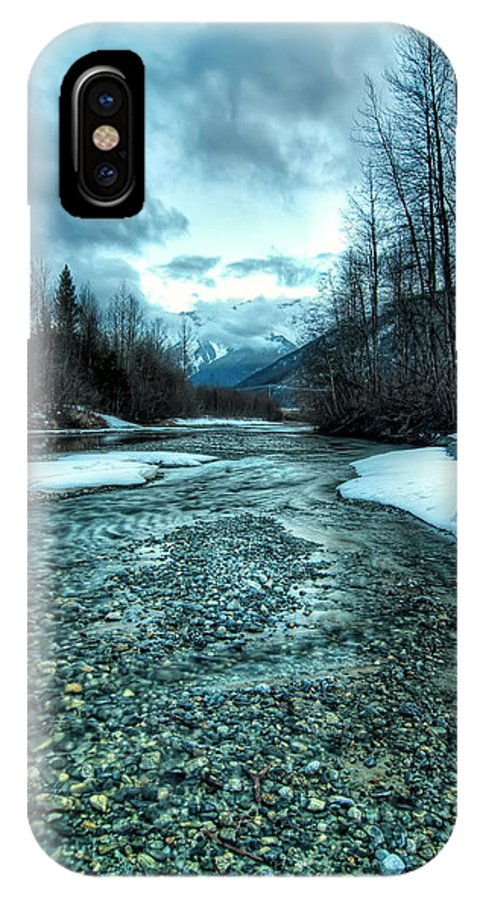 Beautiful IPhone X Case featuring the photograph Blue Creek by James Wheeler