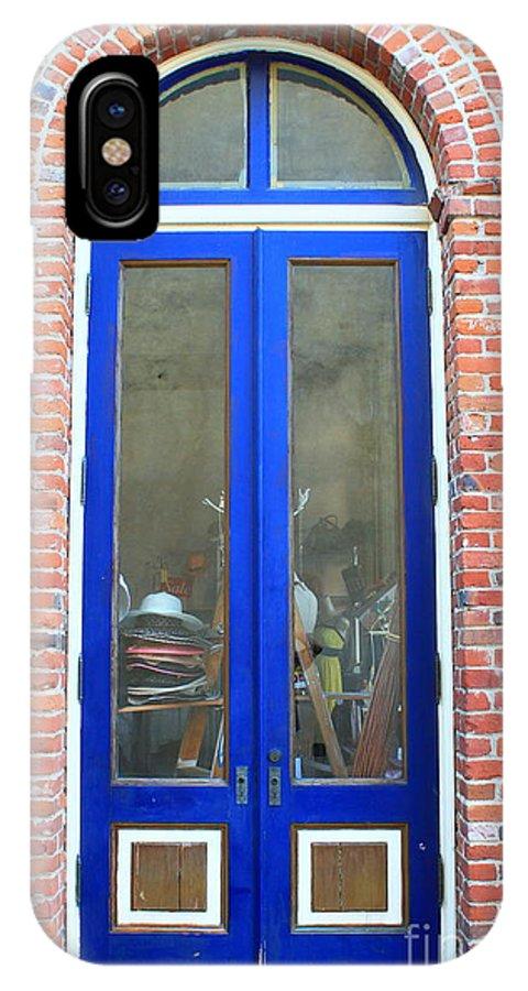Door IPhone X / XS Case featuring the photograph Blue Door by Terry P
