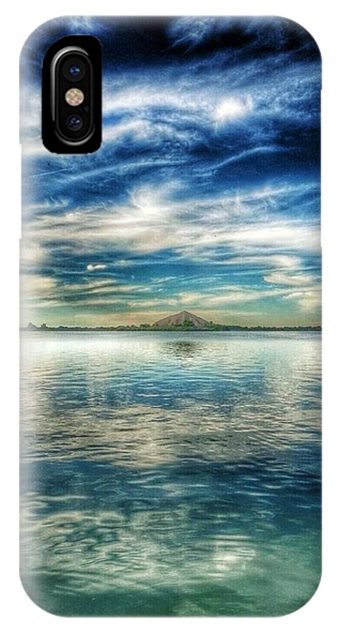 Fishing IPhone X Case featuring the photograph Blue Dream Fishing by Randell Gates