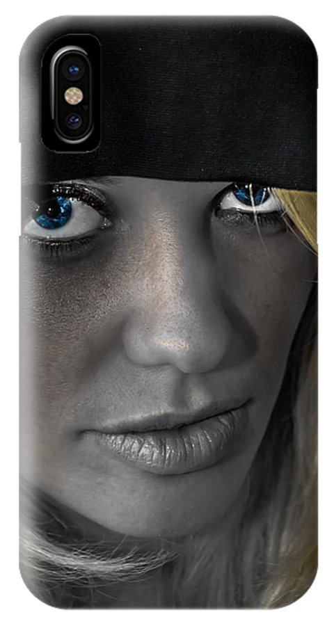 Attractive IPhone X Case featuring the photograph Blue Eyes by Sotiris Filippou