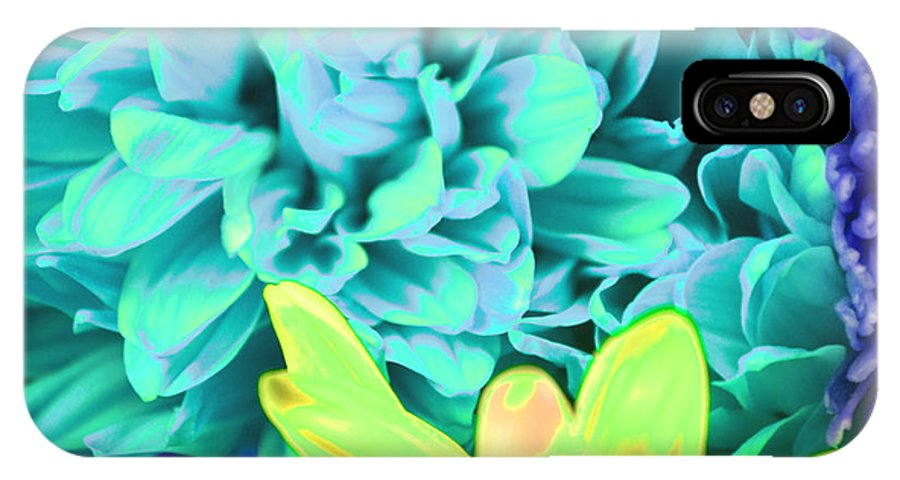 Flower IPhone X Case featuring the photograph Blue Flower by LLaura Burge