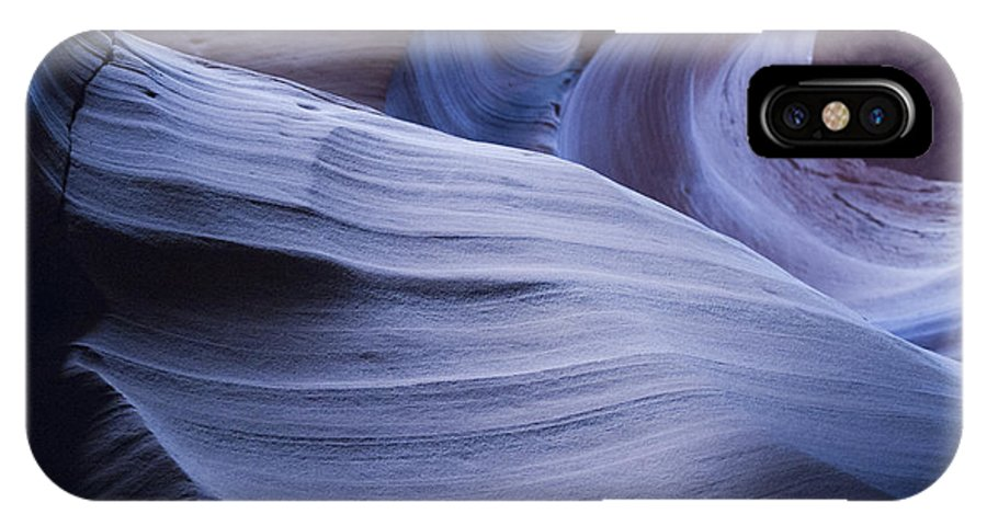 Antelope Canyon IPhone X Case featuring the photograph Blue Harmony by Brenda Kean