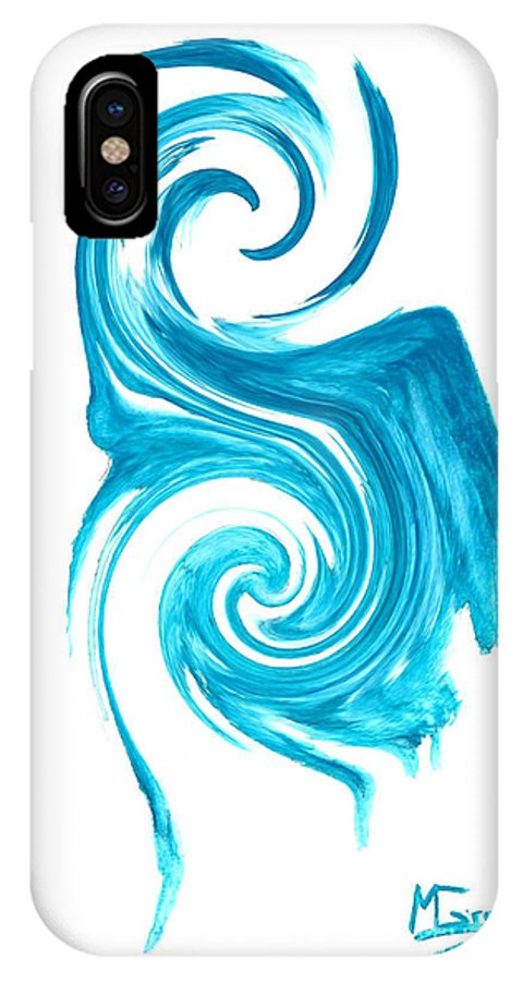 Blue Heron IPhone X Case featuring the painting Blue Heron by Michael Grubb