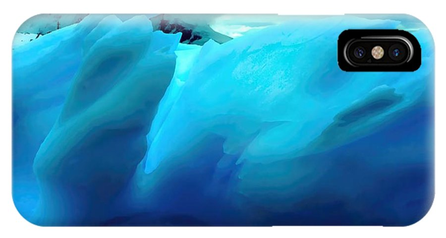 Iceberg IPhone X Case featuring the photograph Blue Ice by Amanda Stadther
