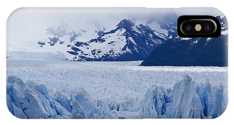 Argentina IPhone X Case featuring the photograph Blue Ice by Michele Burgess