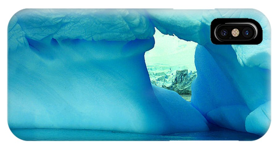 Icebergs IPhone X Case featuring the photograph Blue Iceberg Antarctica by Amanda Stadther