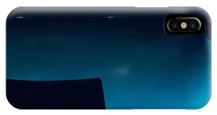 Abstract Photograph IPhone X Case featuring the photograph Blue II C2014 by Paul Ashby