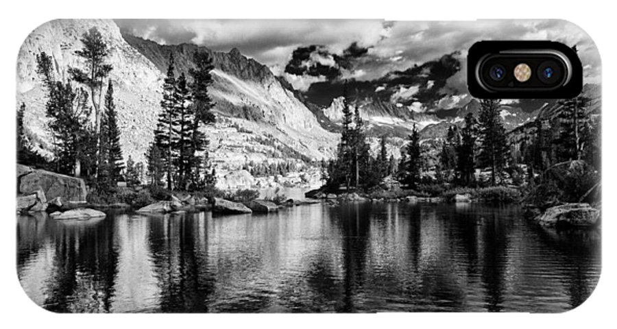 Lake IPhone X Case featuring the photograph Blue Lake by Cat Connor