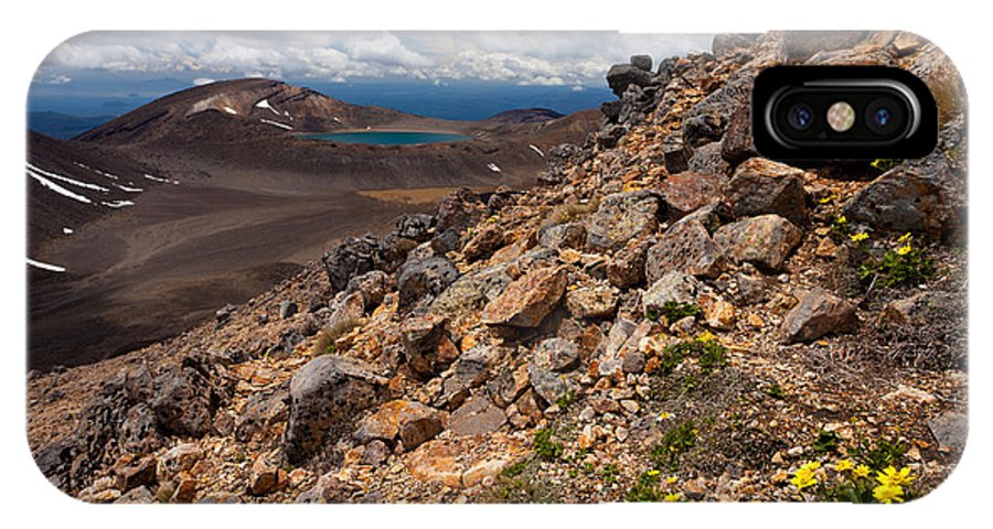 Mount IPhone X Case featuring the photograph Blue Lake Of Tongariro National Park New Zealand by Stephan Pietzko