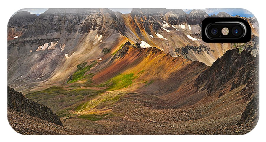 Blue Lakes Pass IPhone X Case featuring the photograph Blue Lakes Pass by Aaron Spong