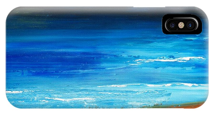 Nantucket IPhone X Case featuring the painting Blue Mist Over Nantucket Island by Conor Murphy