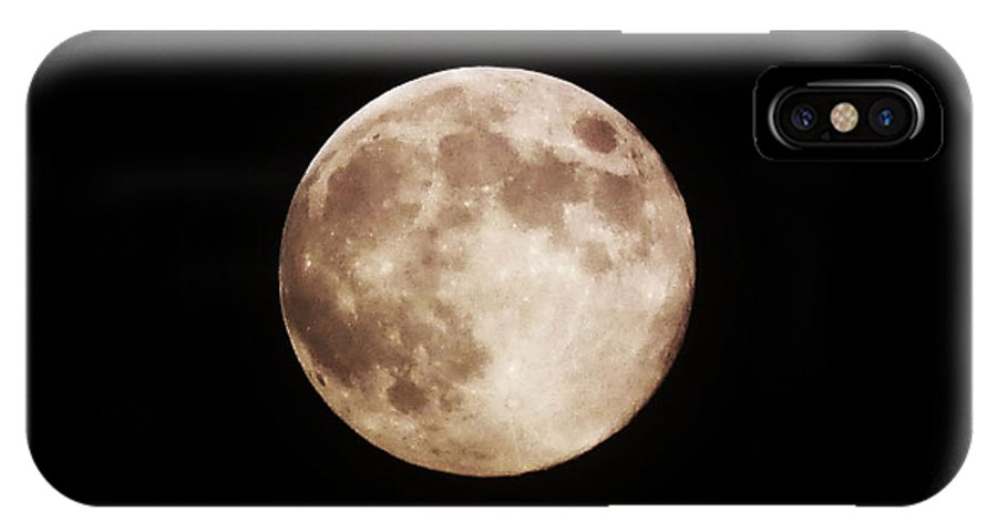 Moon IPhone X Case featuring the photograph Blue Moon 1 by Catherine Rogers