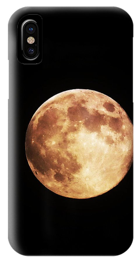 Moon IPhone X Case featuring the photograph Blue Moon 2 by Catherine Rogers